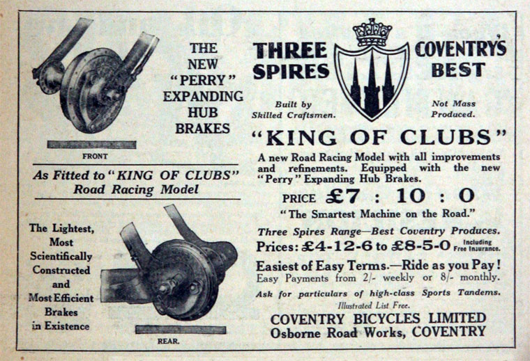 1931 THREE SPIRES KING OF CLUBS