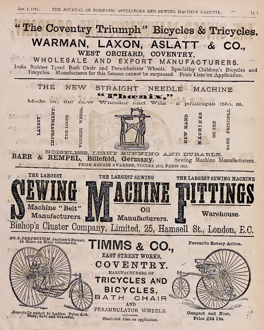 1882 Warman Laxon Coventry Triumph copy