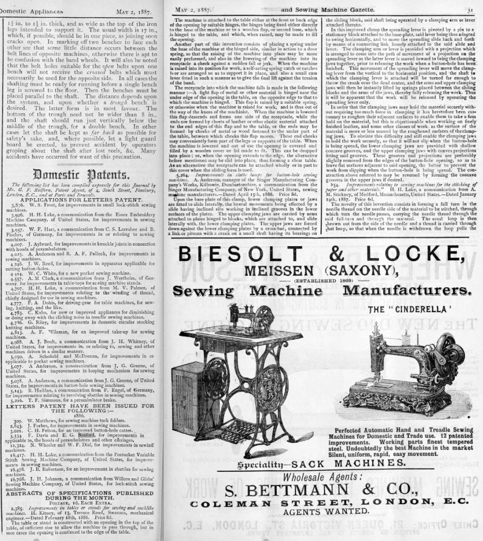 1886 EG Benford patent 1