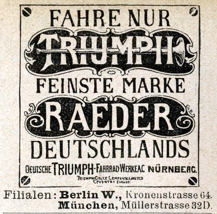 1899 triumph werke nurnberg