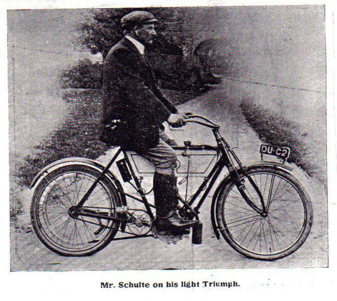 1904 triumph motorcycle SCHULTE