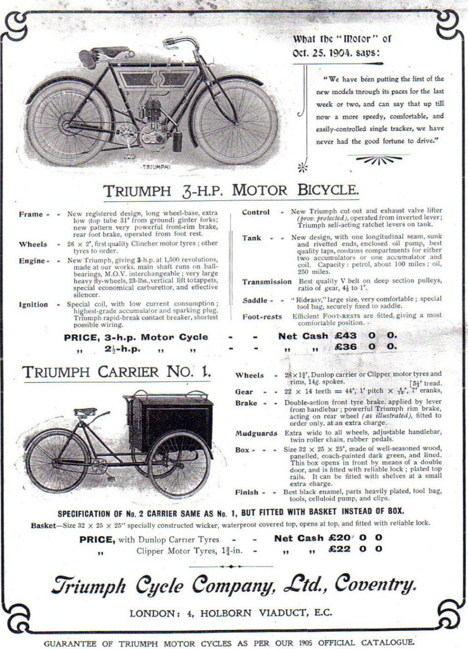 1904 triumph motorcycle