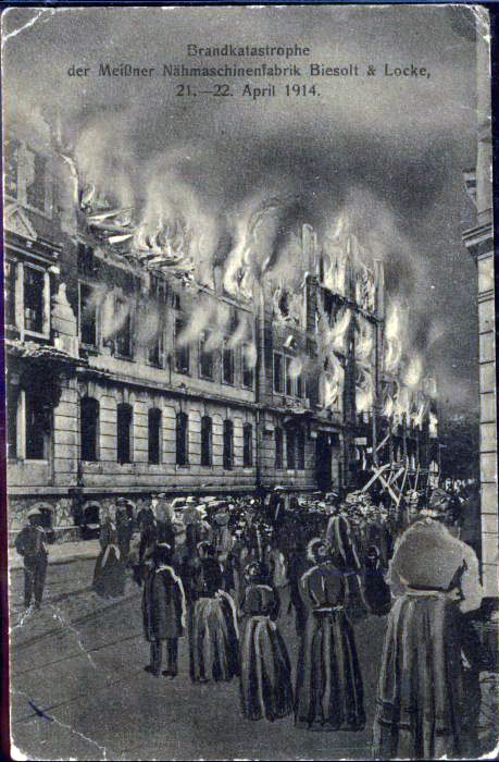 1914 BIESOLT LOCKE factory fire 0
