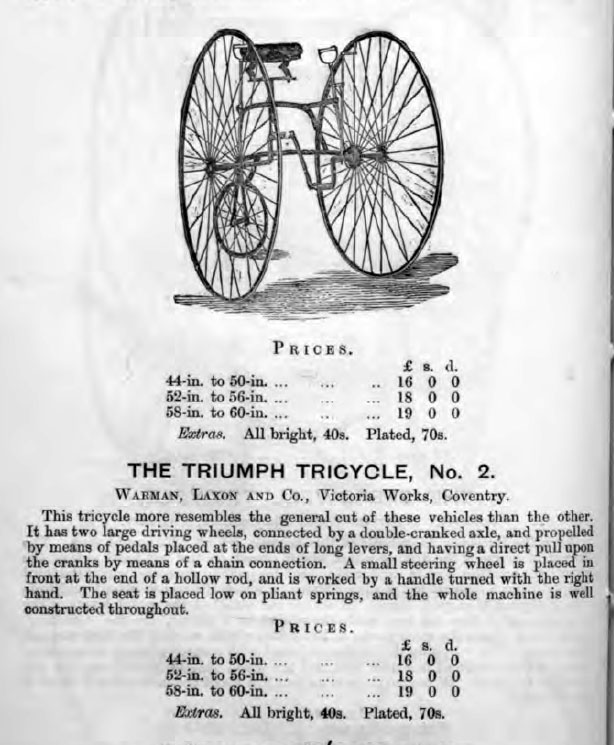 triumph tricycle 1879
