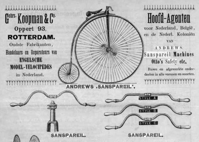 Wm Andrews safety bicycle dutch advert