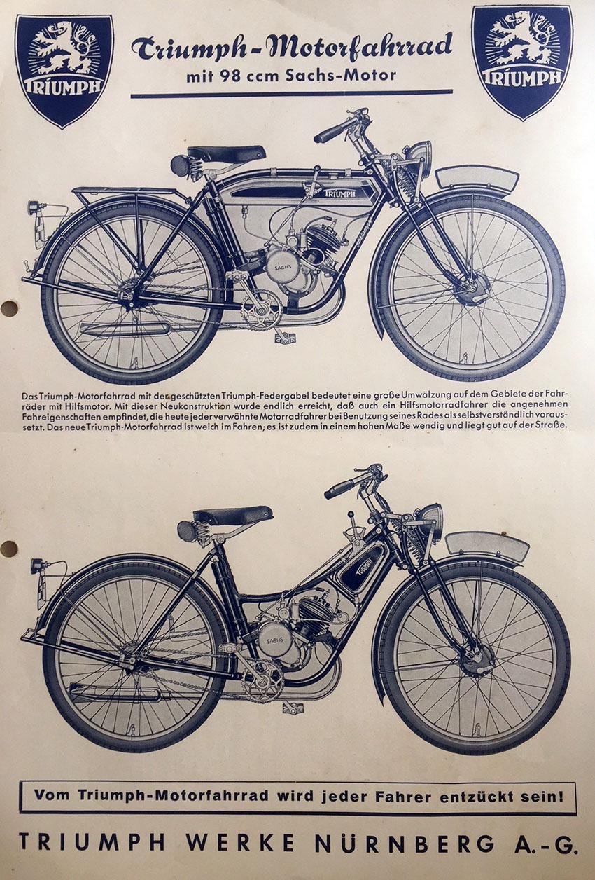 1935 Triumph TS100 m/cycle | SIEGFRIED BETTMANN & TRIUMPH